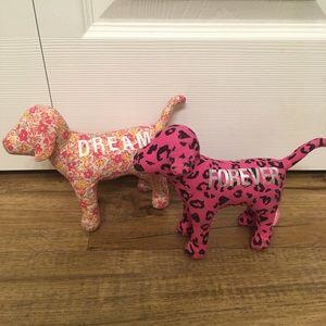 Pink Victoria's Secret Plush Dogs Dream & Forever